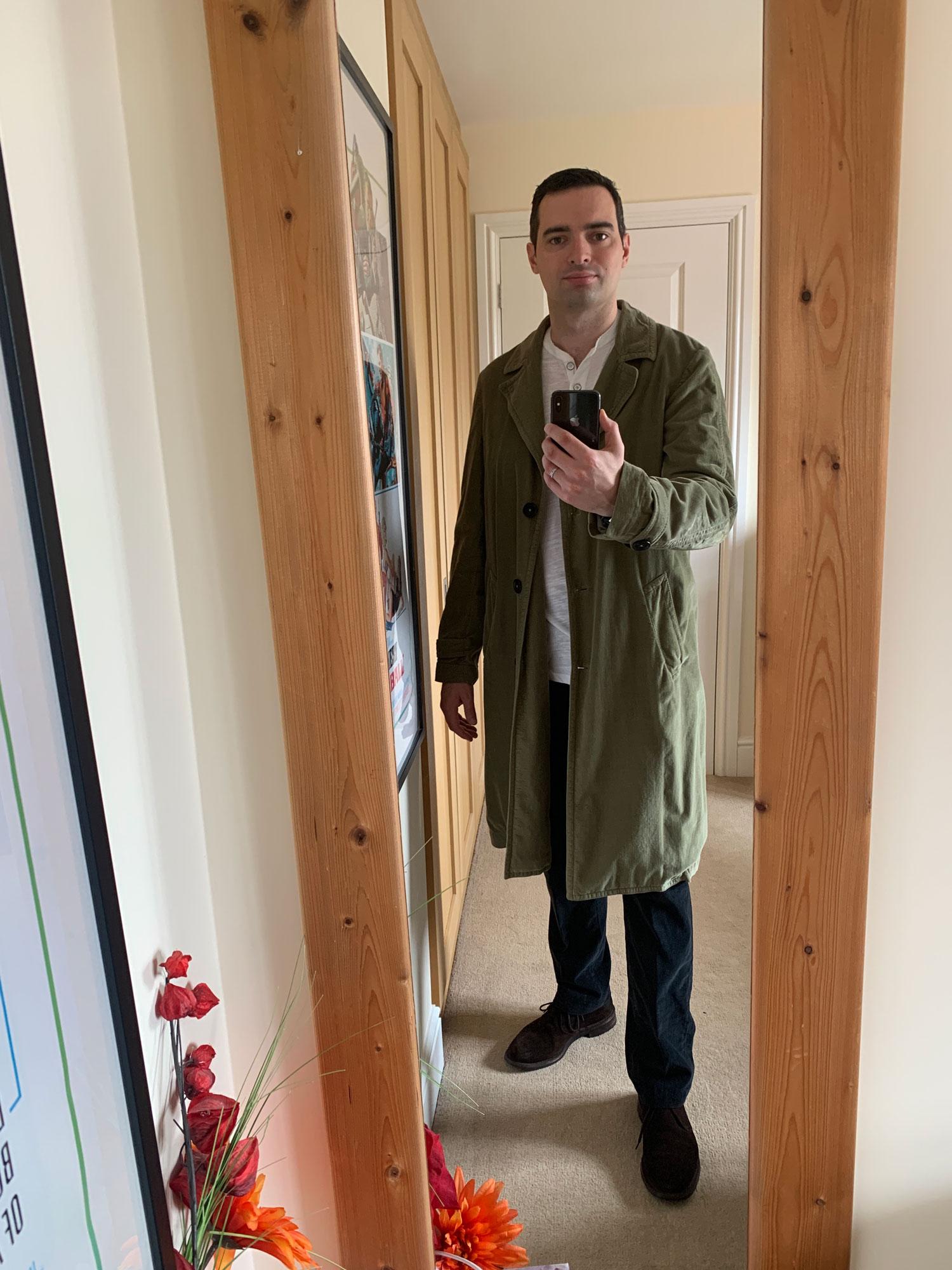 Duster Coat mirror selfie