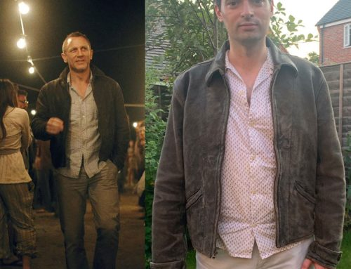 James Bond's 'Enjoying Death' Levi's Vintage Clothing 1930s Leather Jacket from Skyfall