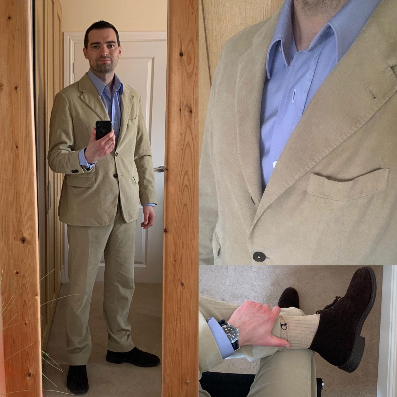 Massimo Alba sloop suit review Mirror selfie