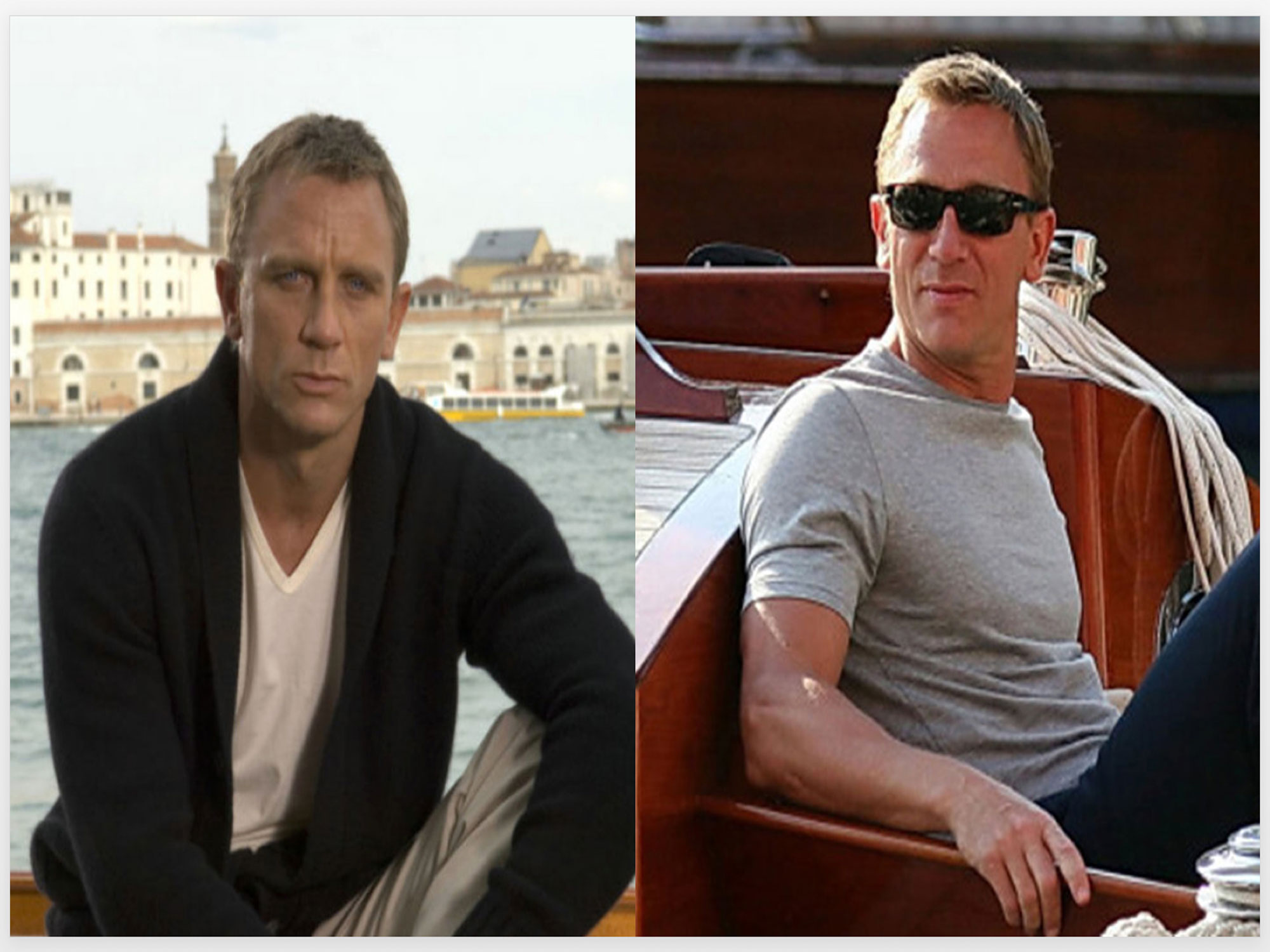 Daniel Craig in Sunspel T-Shirts