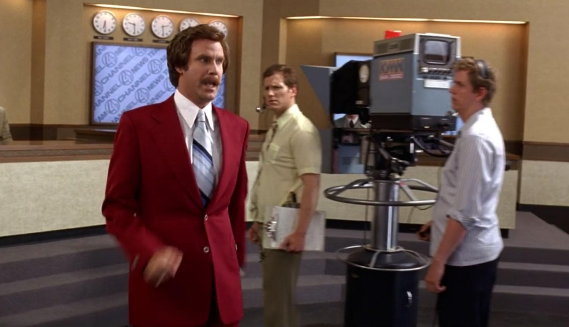 Anchorman burgundy suit