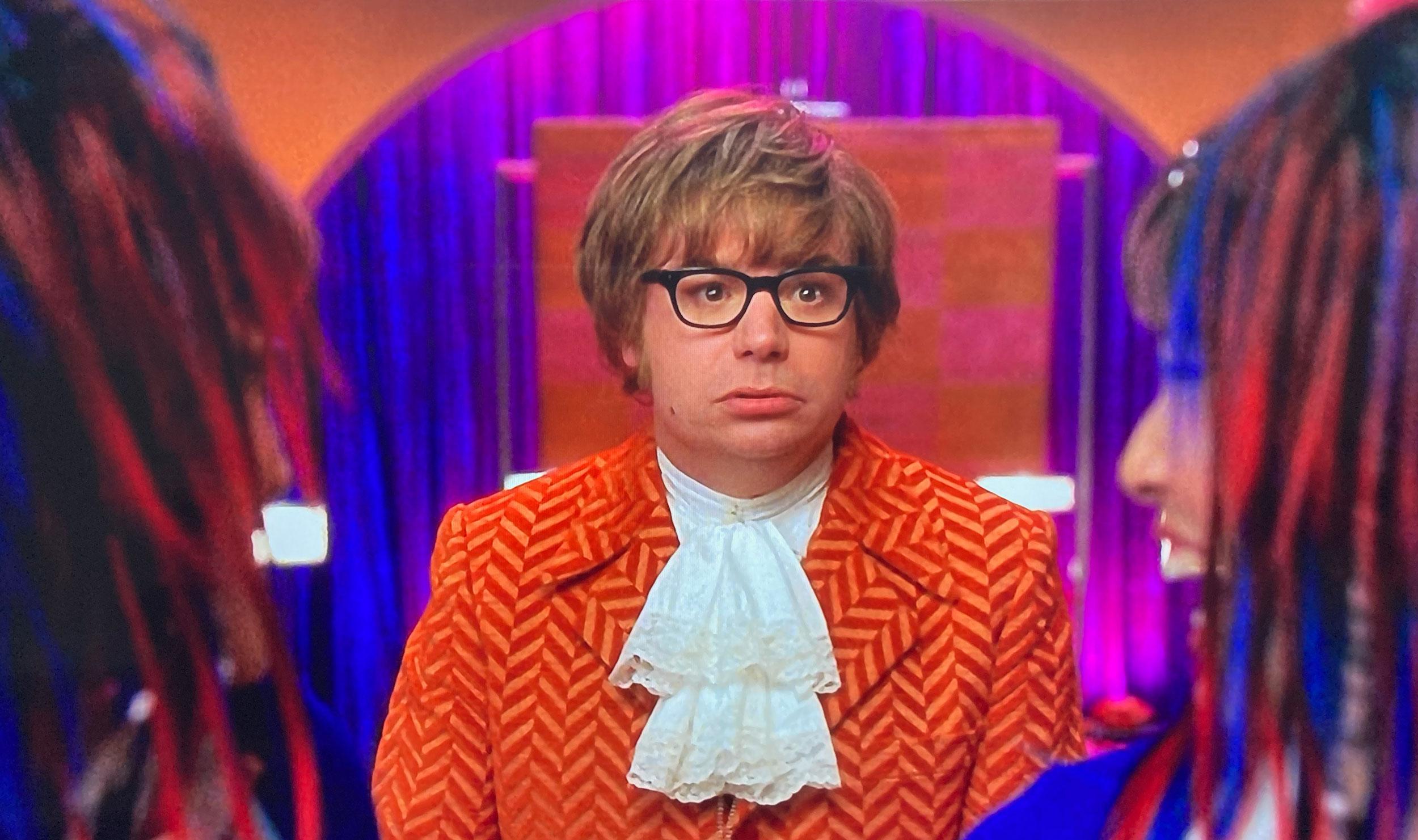 Austin Powers orange herringbone