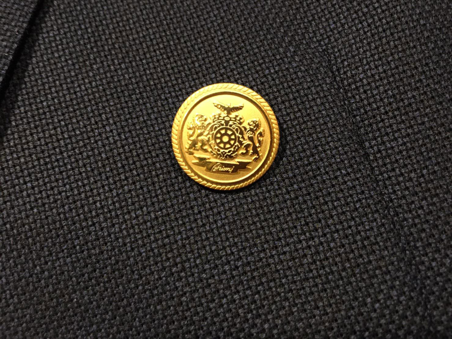 James Bond Blazer Brioni Shanked button