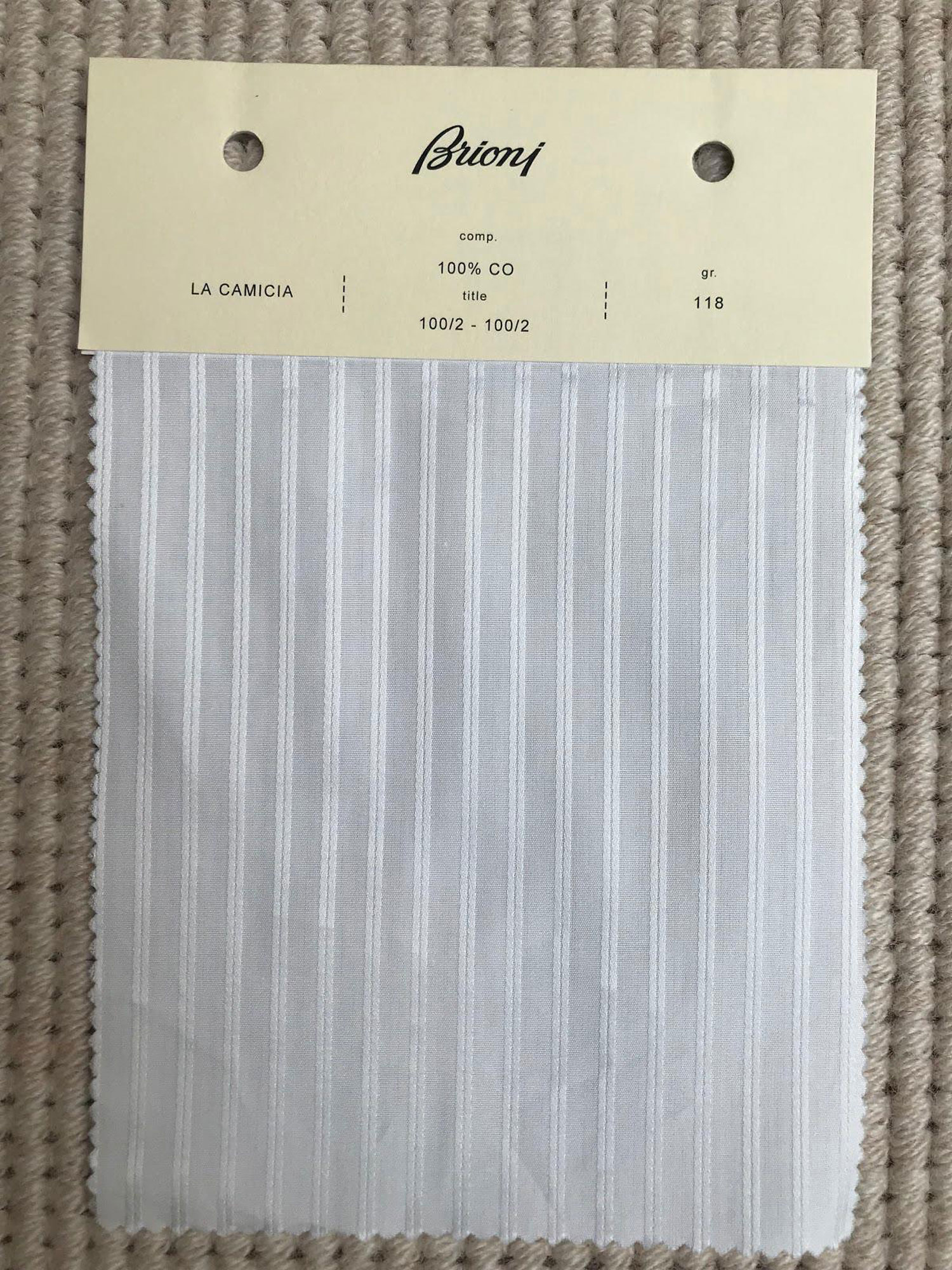 Brioni shirt fabric