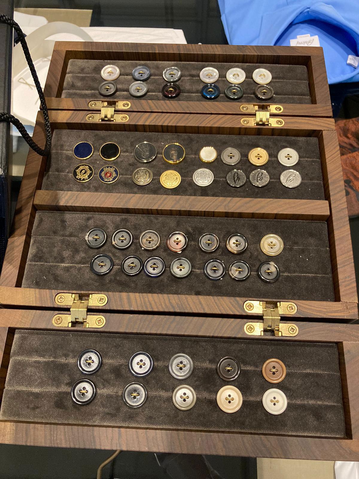 buttons menswear