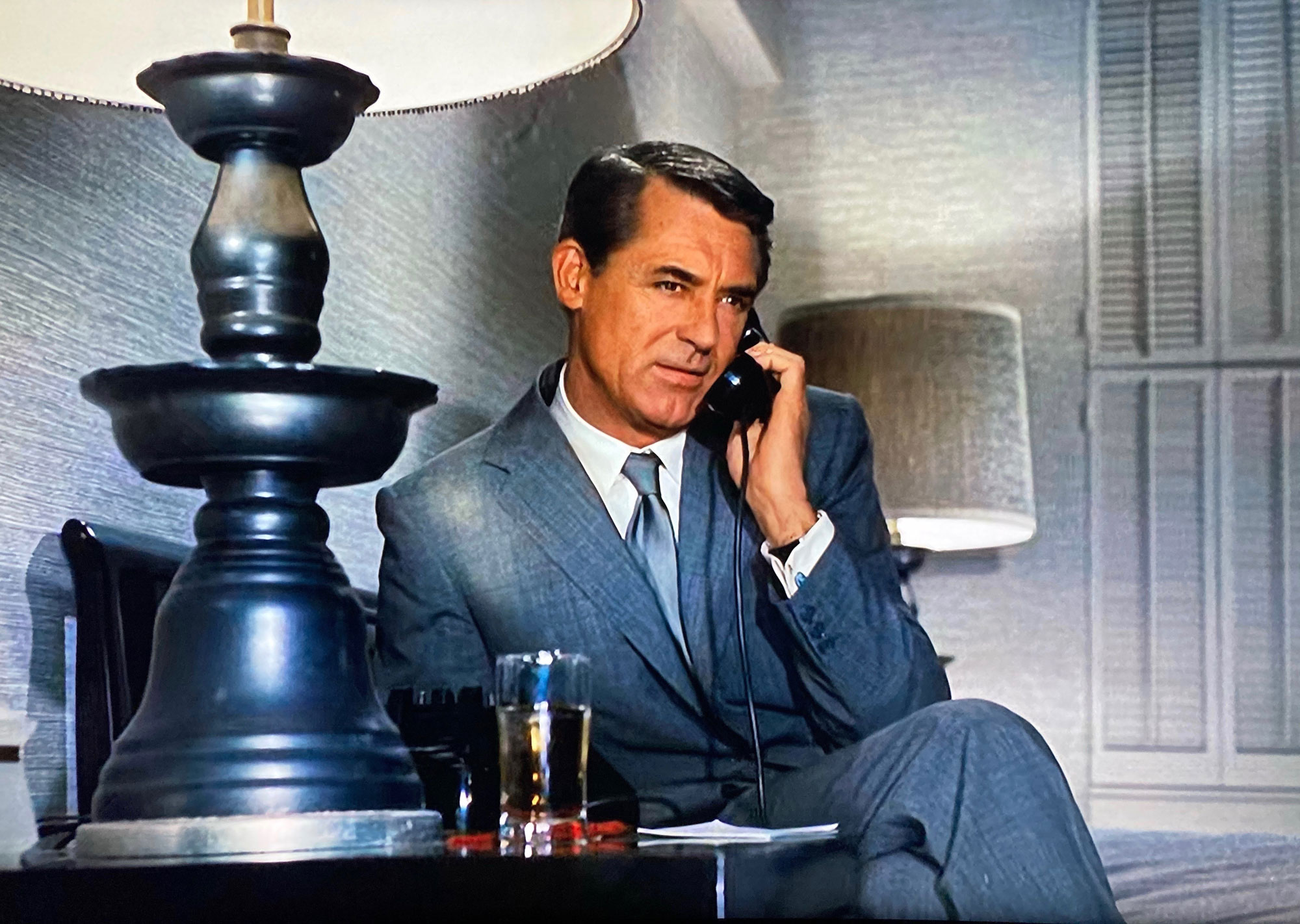 Cary Grant on the phone in North by Northwest
