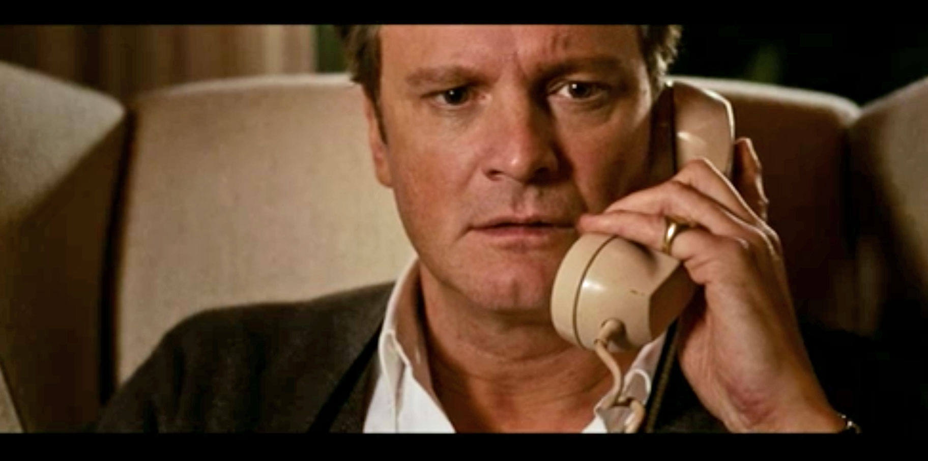 A Single Man Colin Firth on the telephone