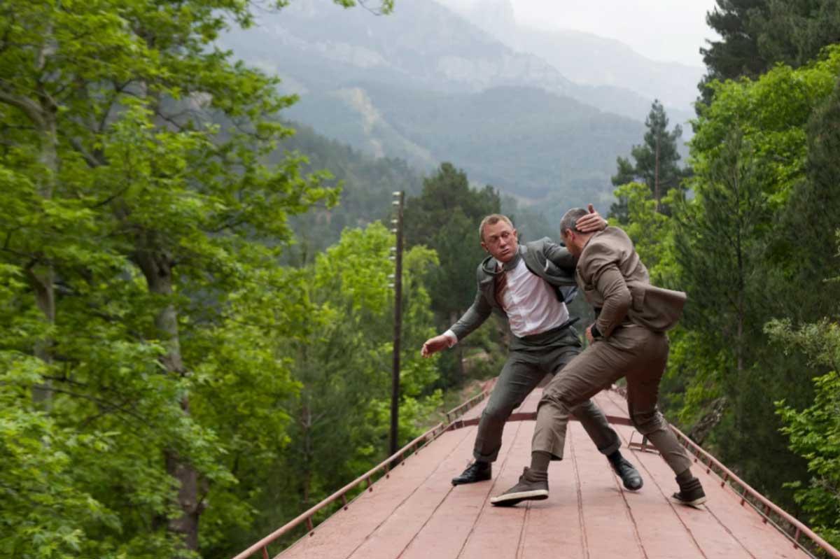 Crockett & Jones Tetbury skyfall train fight