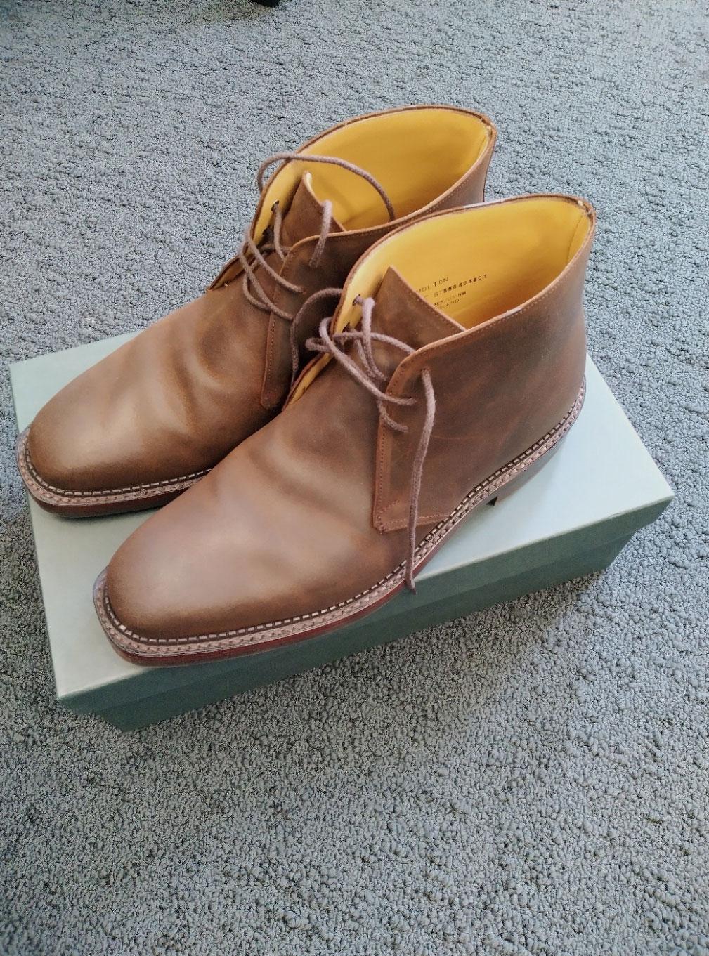 Crockett & Jones Molton brown rough suede boots