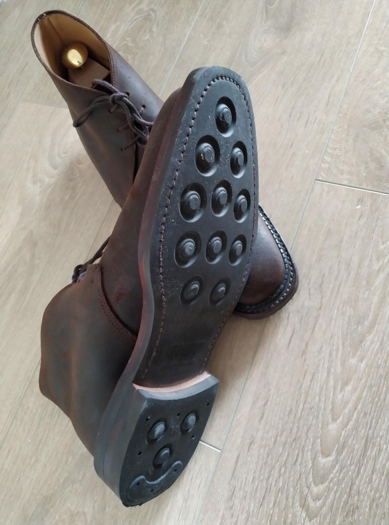 Crockett & Jones molton suede boots sole