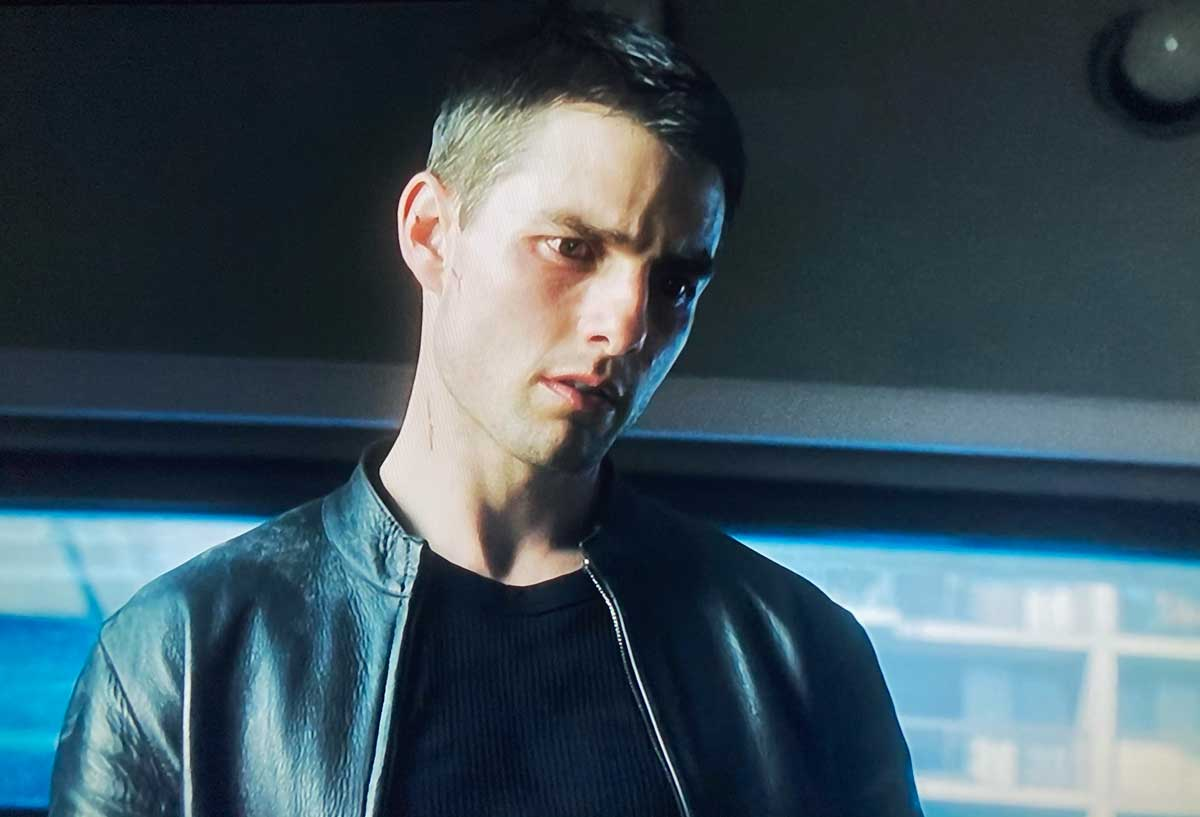 Minority Report cruise leather jacket