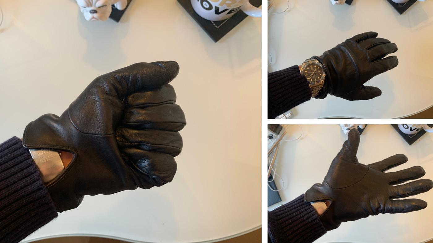 Dents gloves open close measure