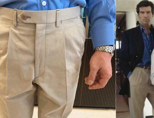 Brioni Beige Bespoke Trousers | Getting that Brosnan Goldeneye Look | #03