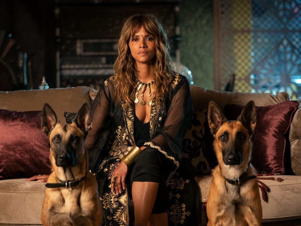 Halle Berry and her dogs