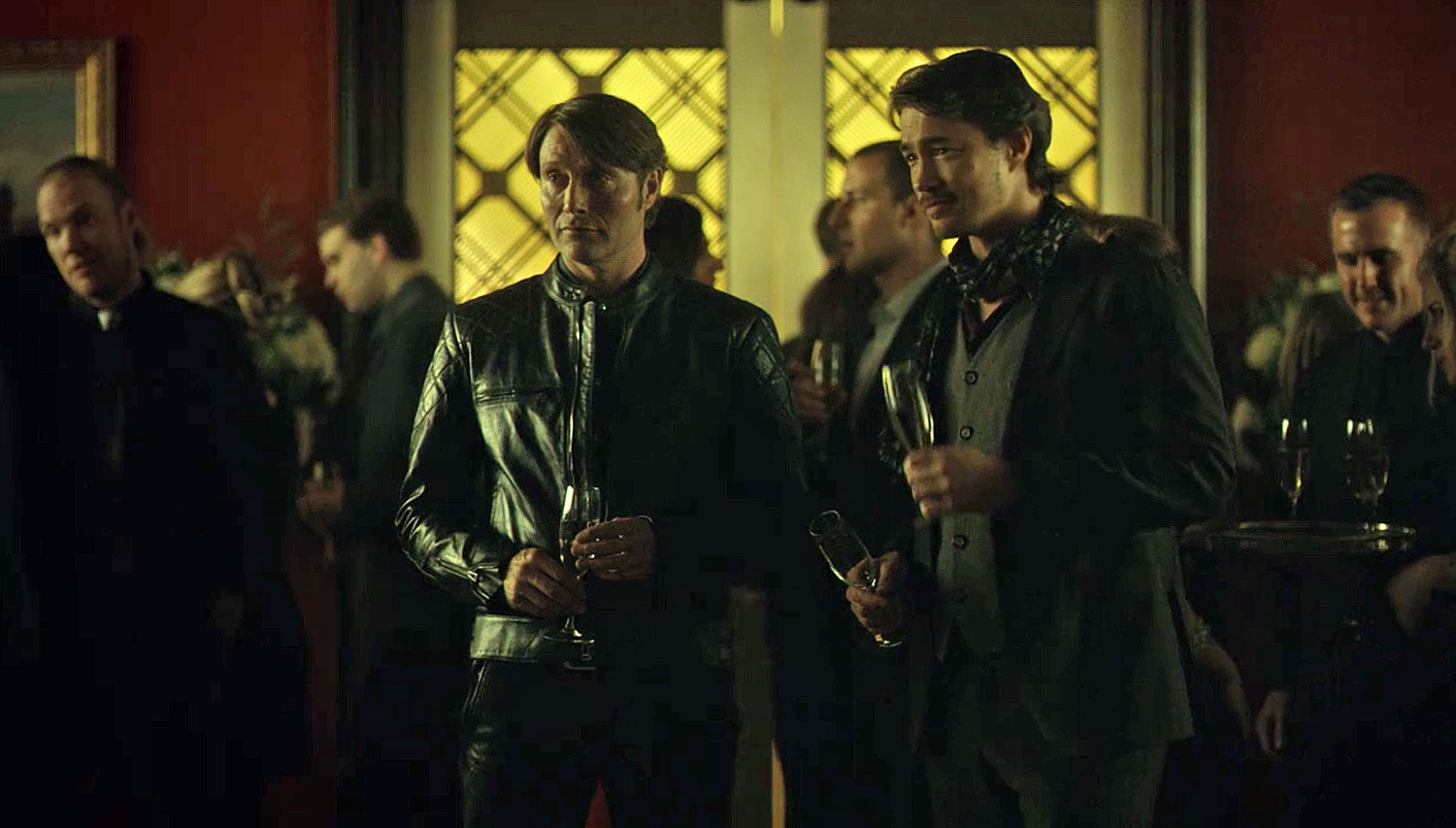 Bikers Jacket mads at a party in Hannibal