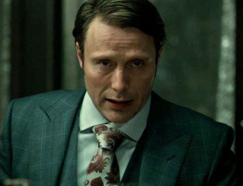 Hannibal's Recurring 'Reveal' Red & Silver Paisley Silk Tie (#9)