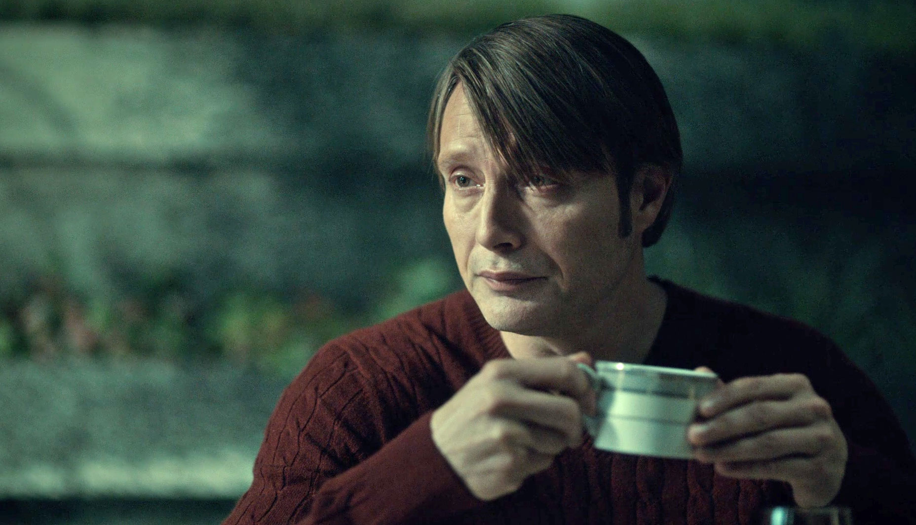 Cable Knit Sweater Hannibal at breakfast
