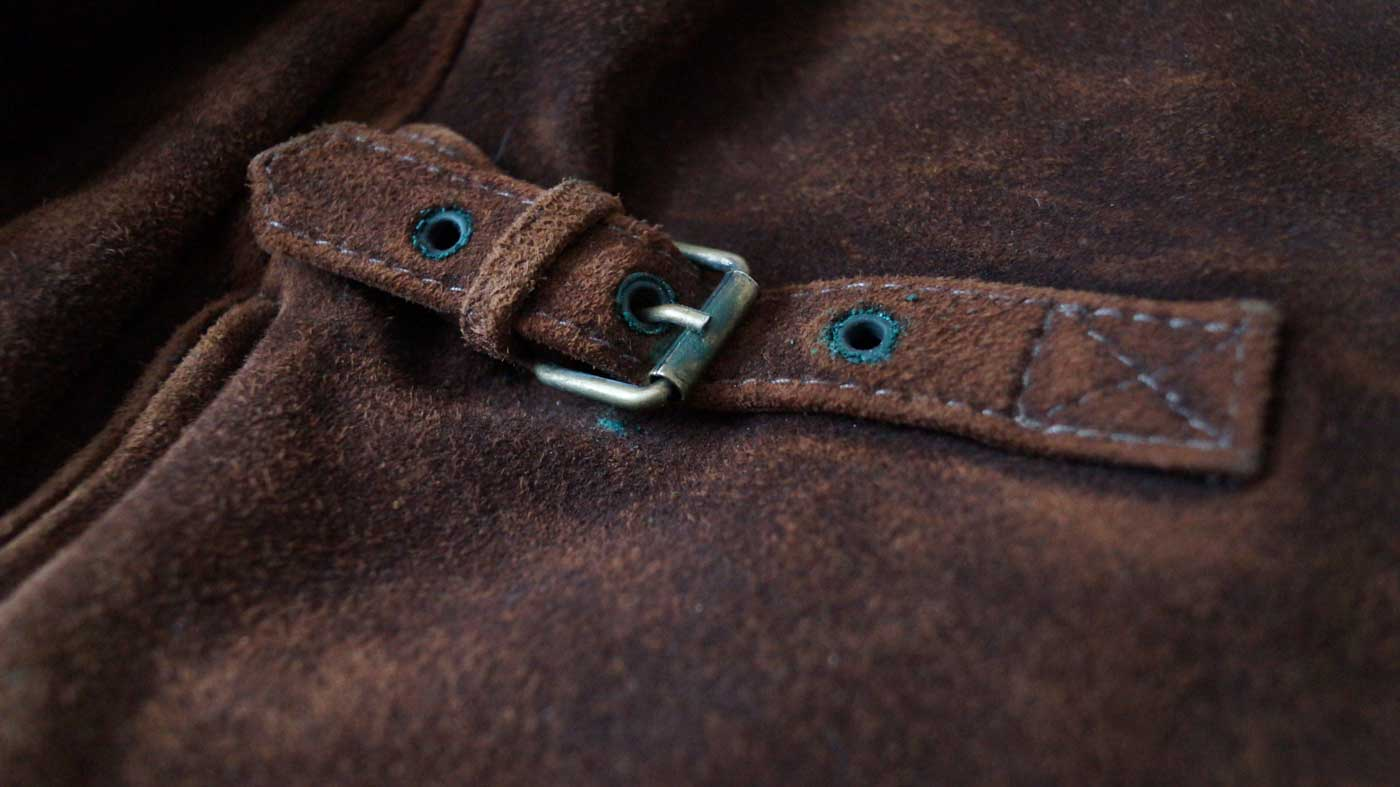 jacket buckle details