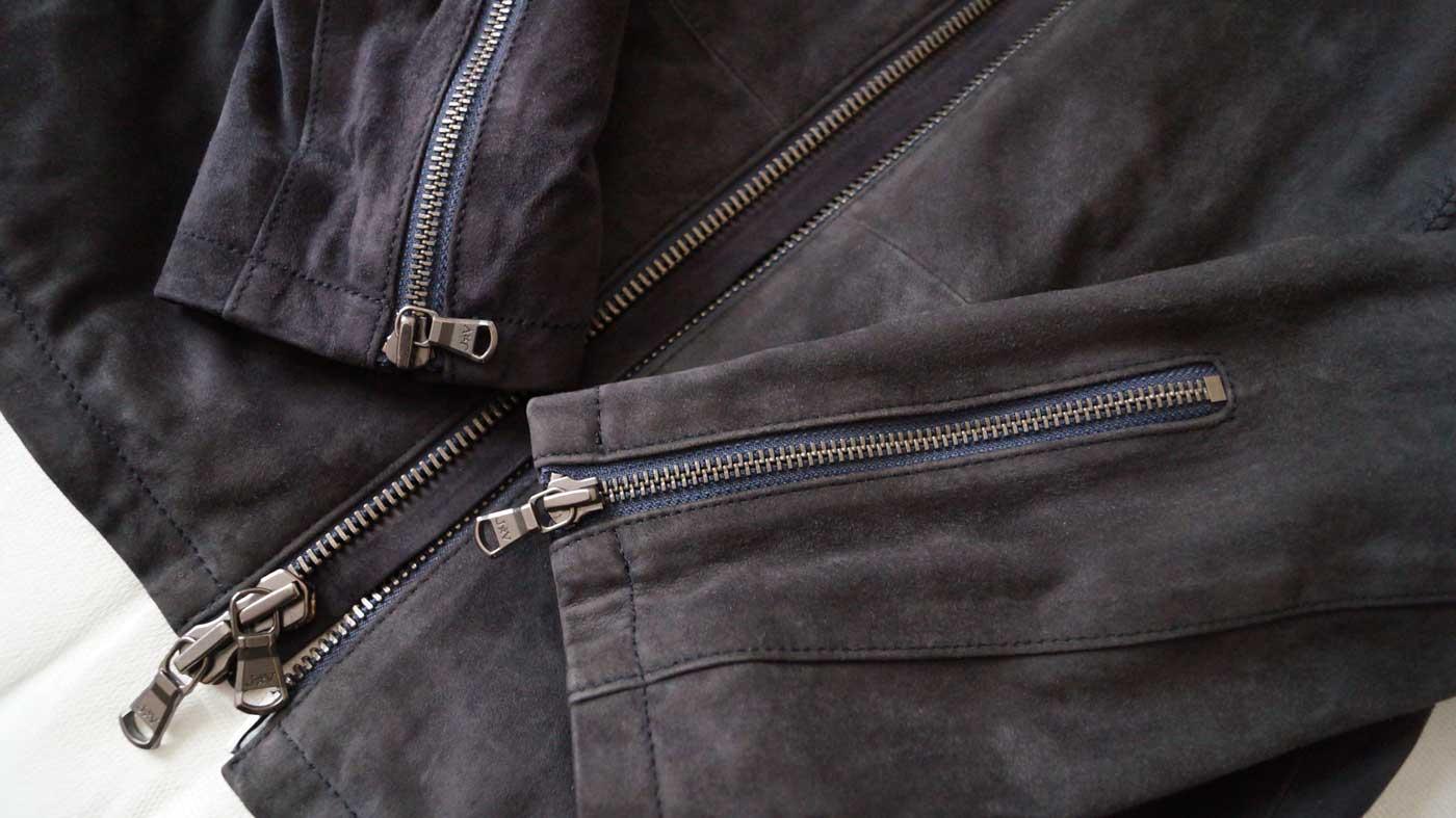 Suede Racer Jacket zips