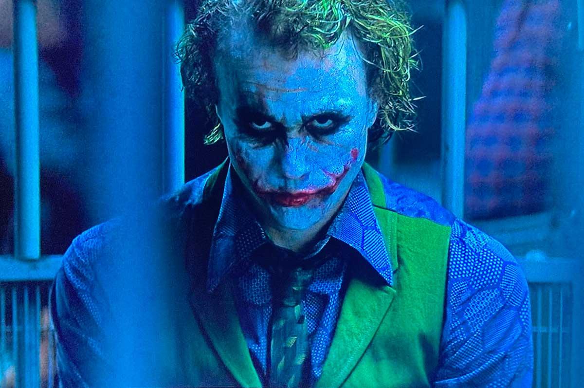 The Dark Knight joker make up clown face