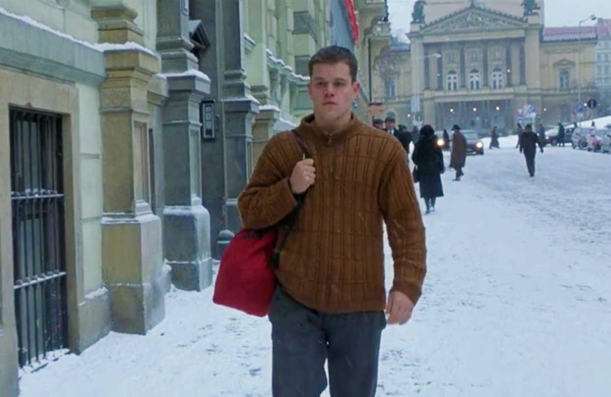 The Bourne Identity orange fisherman's sweater