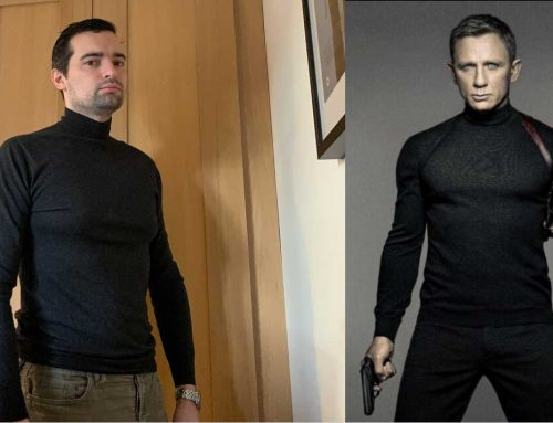 The N.Peal Mock Turtle Neck Sweater from the Spectre Poster | Review
