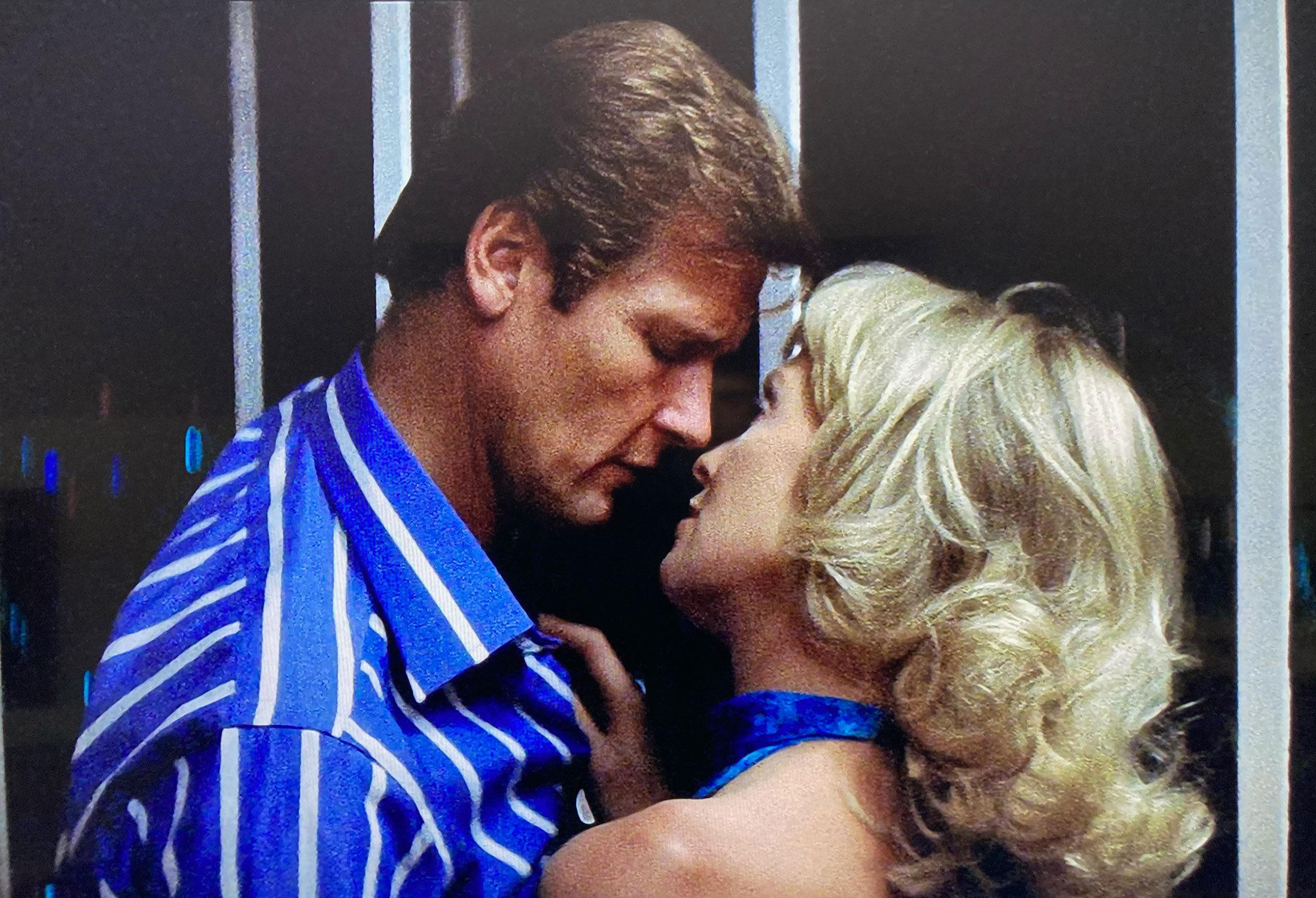 Roger Moore Gold striped shirt