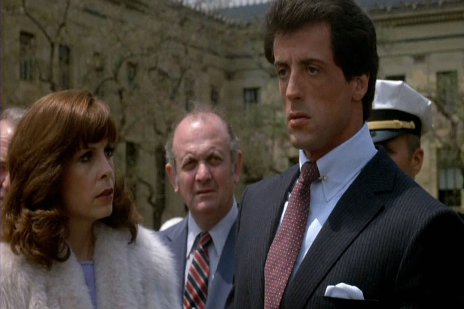 Talia Shire and Sylvester Stallone in Rocky 3 1982