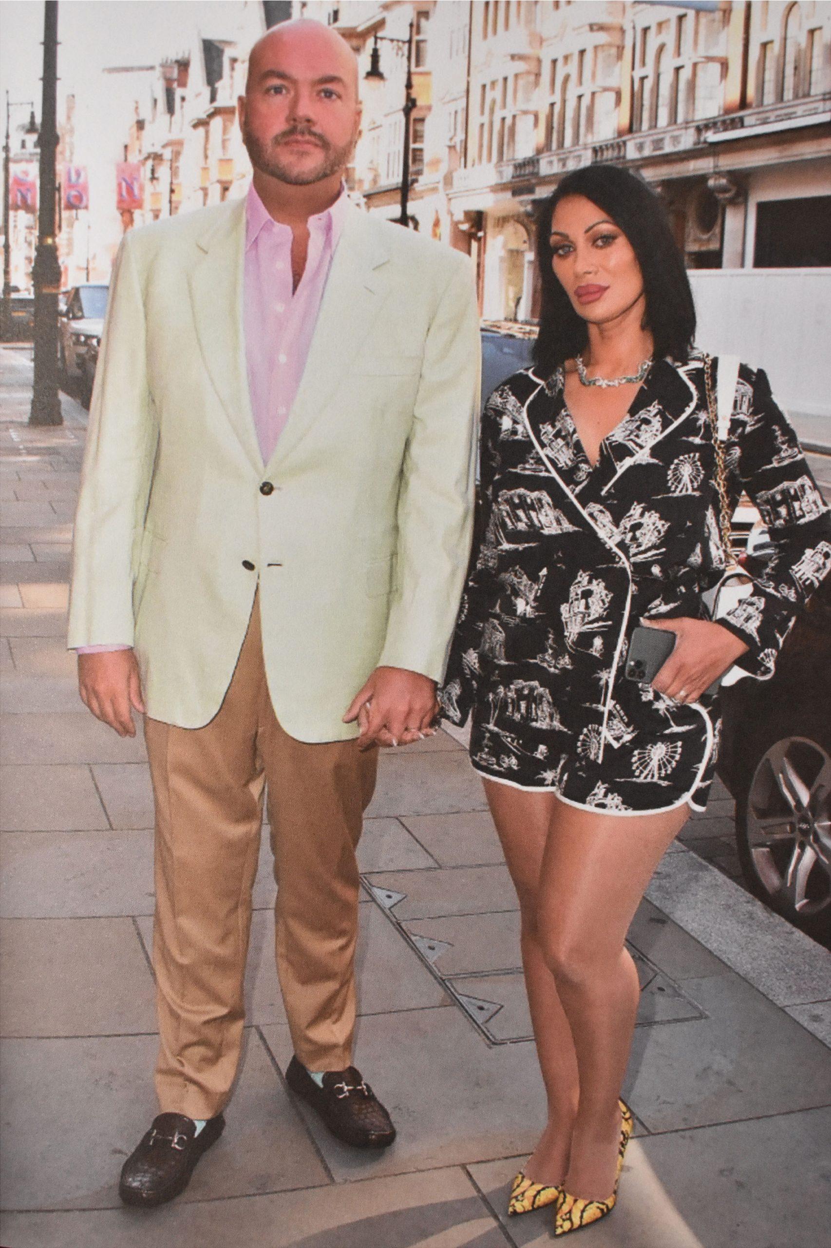 Jermyn Street Shirt author Jonathan Sothcott and his wife Jeanine Nerissa Sothcott