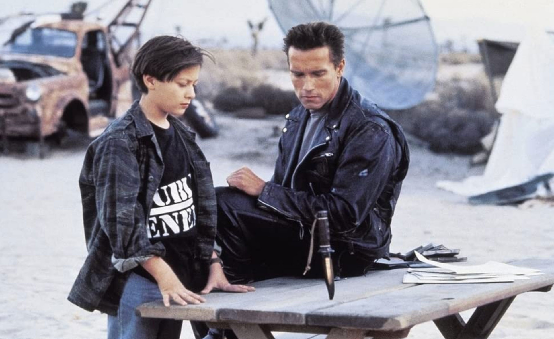 Terminator Jackets t2 arnie and furlong