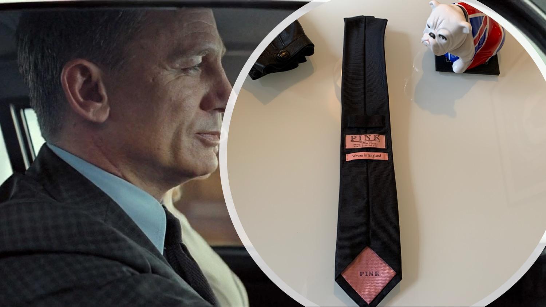 Thomas Pink tie on Daniel Craig in Spectre