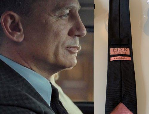 Bond's Black Plain Woven Tie by Thomas Pink (Final Scene) | Spectre