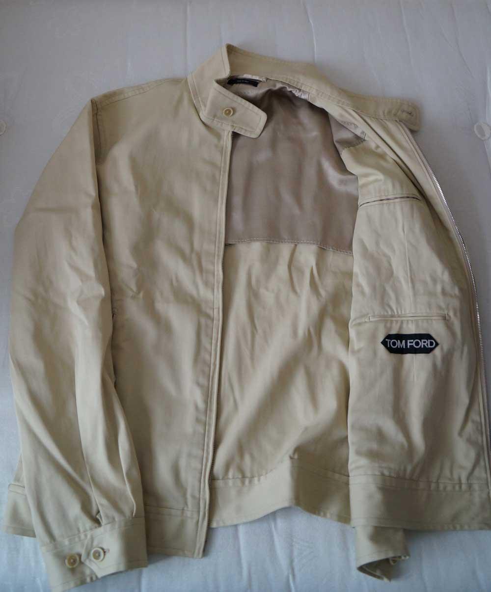 Harrington Jacket in cream flat lay